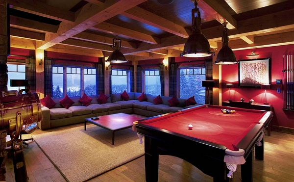 The best luxury skiing chalet lussorian for Indoor game room ideas