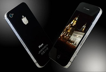 2fcc492598eff5 The awesome iPhone 4 – Diamond Queen edition is instantly recognisable as  being a Stuart Hughes product.